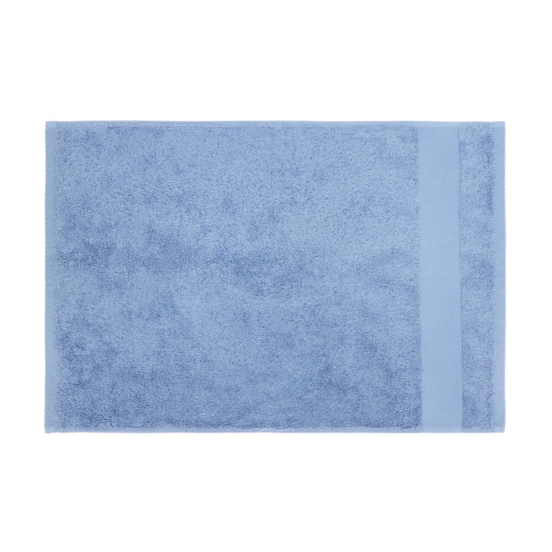 Asciugamano spugna di puro cotone Zefiro, Blu, large image number 2