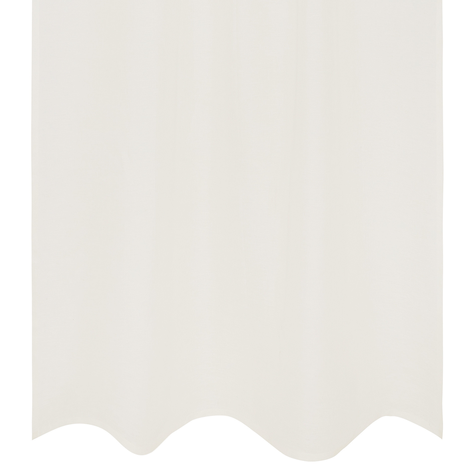 Tenda puro lino tinta unita, Bianco, large image number 0