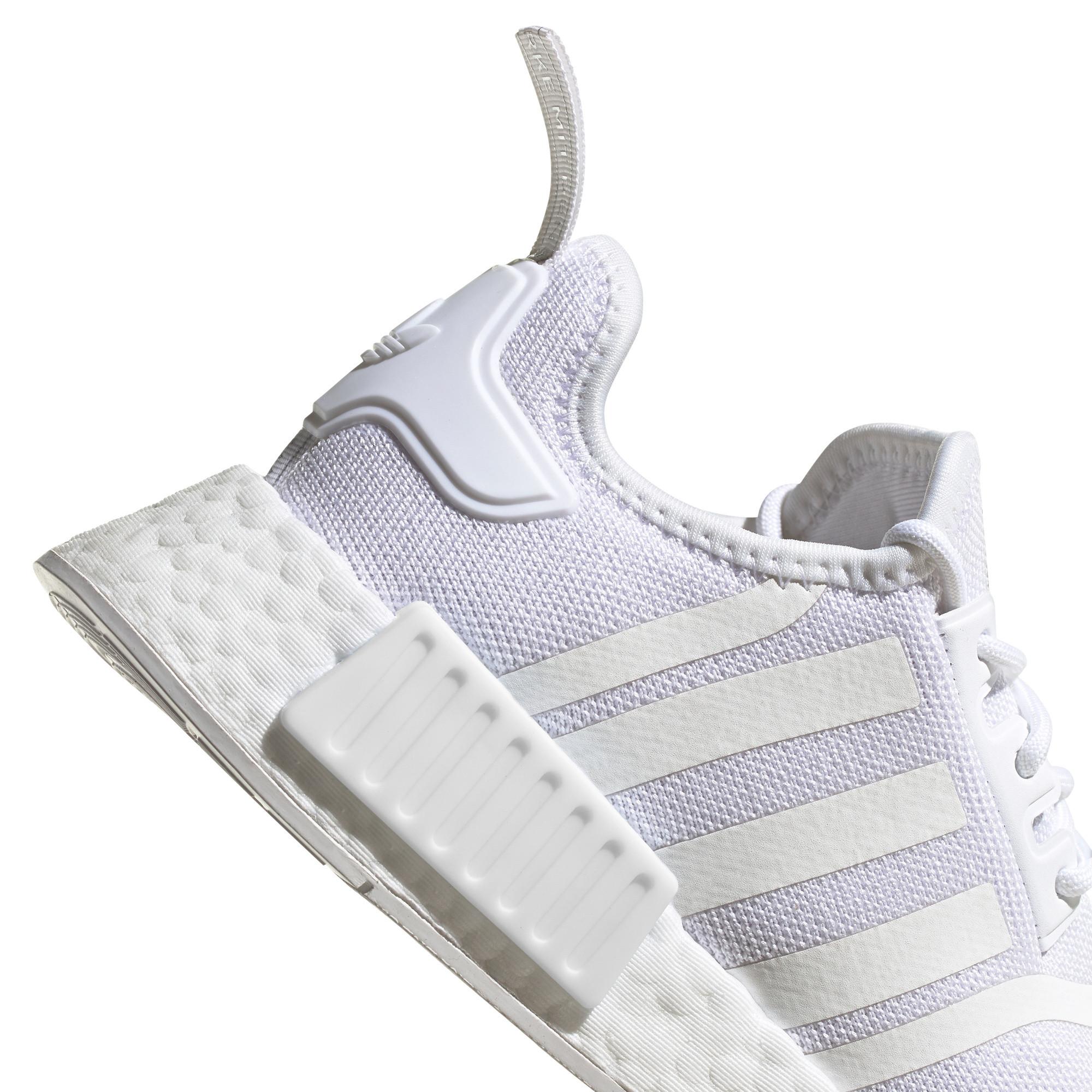 Scarpe donna Adidas Originals NMD_R1 Primeblue, Bianco/Grigio, large image number 4